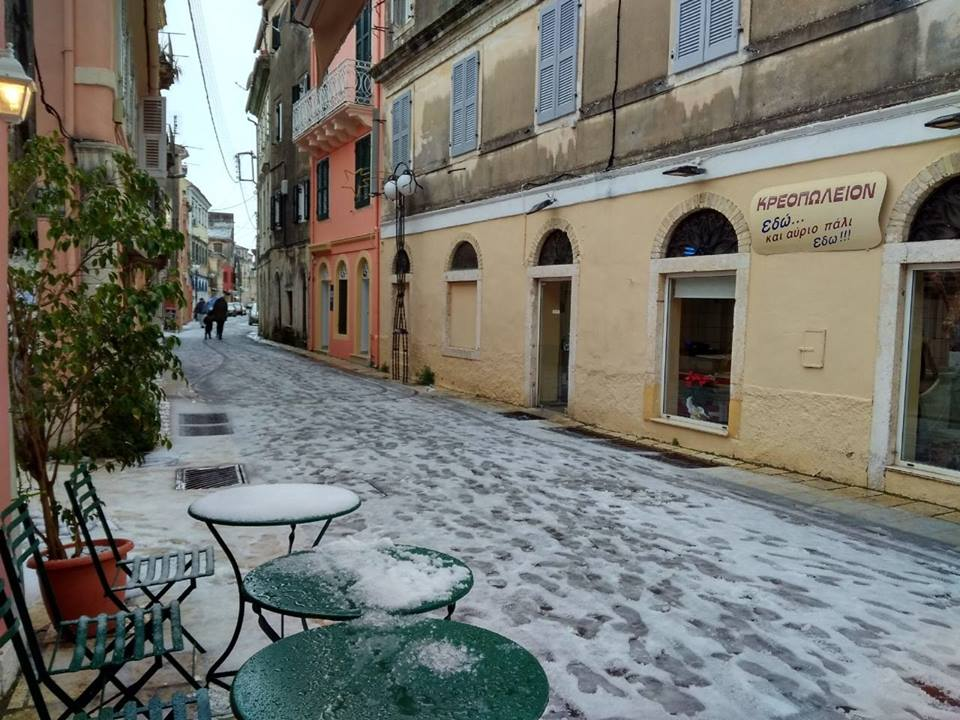 Corfu were dressed in white